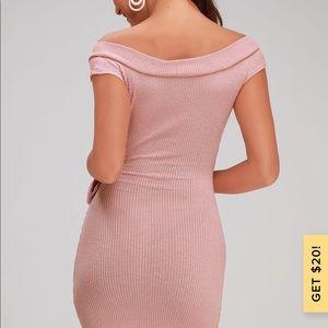 Lulu's Dresses - Lulus pink wrap dress
